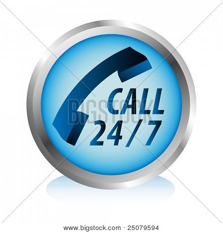 Twenty four hours by seven days phone hotline service button.