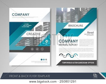 Modern Blue Brochure Design, Brochure Template, Brochures, Brochure Layout, Brochure Cover, Brochure