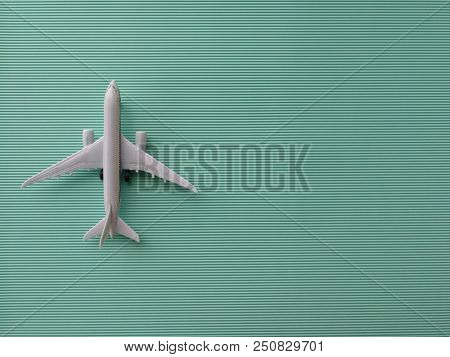 Toy airplane and copy space