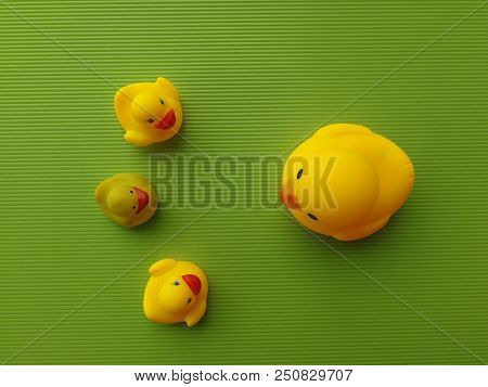 Rubber duck in parenting concept