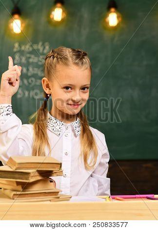 Creative Idea. Creative Idea Of Little Kid In School. Girl Has Creative Idea. Creative Idea And Insp