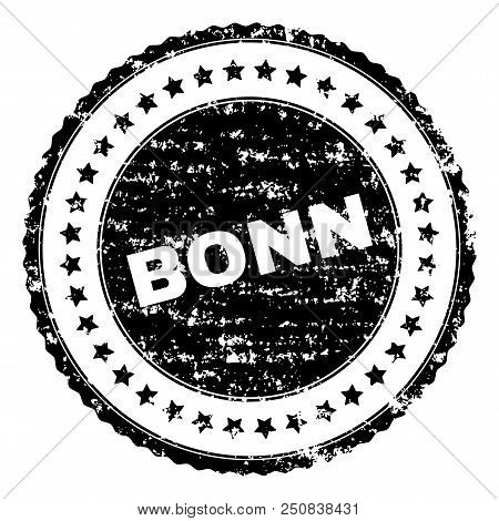 Bonn Seal Stamp With Distress Texture. Black Vector Rubber Print Of Bonn Label With Dirty Texture. R