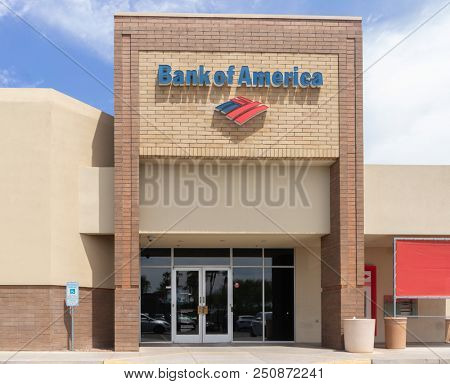 Chandler,Az/USA -7.24.18:Bank of America Corporation is an US multinational financial services company headquartered in North Carolina. It is ranked 2nd on the list of largest bank in US by assets.