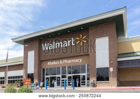 Chandler,Az/USA - 7.24.18.Walmart Inc is the world's largest company by revenue – approximately US$486 billion according to Fortune Global 500 list 2017.
