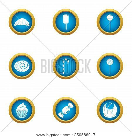 Luscious Icons Set. Flat Set Of 9 Luscious Vector Icons For Web Isolated On White Background