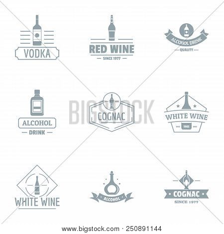 Alco Party Logo Set. Simple Set Of 9 Alco Party Vector Logo For Web Isolated On White Background