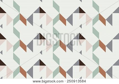 Geo Seamless Pattern, Geometrical Ornament, Seamless Fabric Print, Vintage Print, Geometric Backgrou