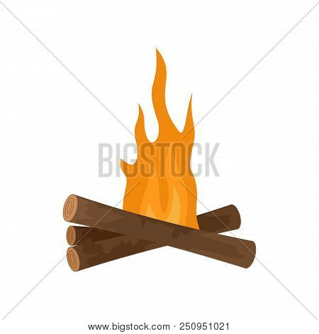 Start Fire Camp Icon. Flat Illustration Of Start Fire Camp Vector Icon For Web Isolated On White
