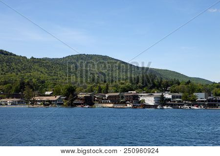 The Summer Town Of Lake George In New York