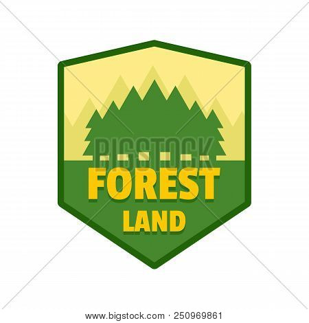 Forest Land Logo. Flat Illustration Of Forest Land Vector Logo For Web Isolated On White