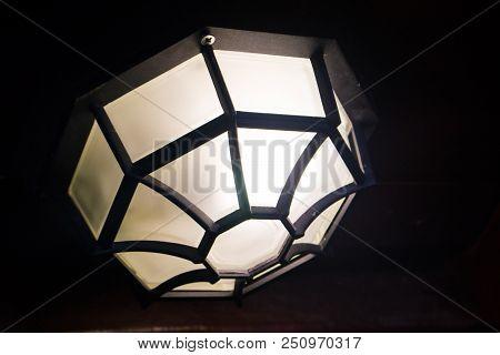 Lamp For Light, Light Of Lamppost, Dark Background