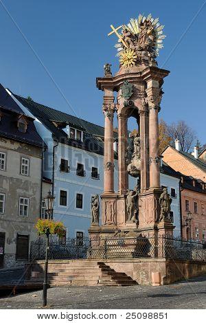 Holy Trinity Plague Column in Banska Stiavnica, Slovakia