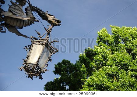 Old historical lamp, Svitavy CZ
