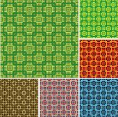 Seamless editable retro pattern. Vector. poster