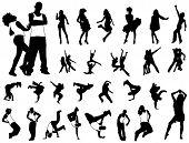Hip hop dancers poster