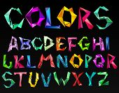 crystal color alphabet. See more in my portfolio poster