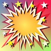 A Vector Comic Book Explosion Background with Stars poster