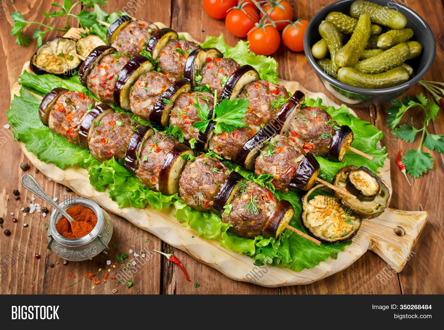 Turkish Kebab Eggplant Image Photo Free Trial Bigstock