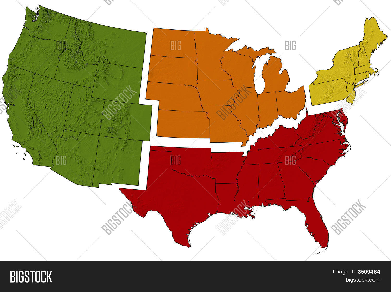 Map United States Image & Photo (Free Trial) | Bigstock