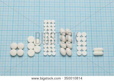 Similar (replacement, Substitute) Drug Tablets. Statistics Of Insurance Medicine, Pills Report.