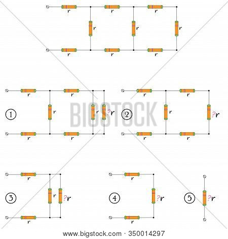 A Worksheet To Solve The Problem Of A Sequentially And Parallel Connection Of Conductors.