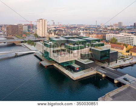 Copenhagen, Denmark - August 27, 2019: Aerial Drone View Of The Danish Architecture Center Dac.
