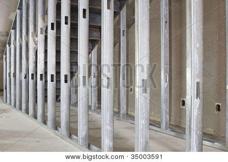 Metal Stud Framing In Commercial Space