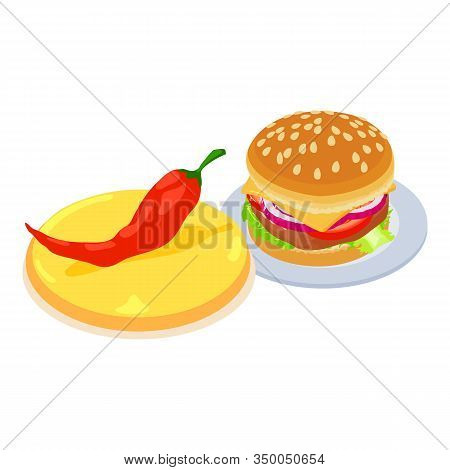 Tasty Fastfood Icon. Isometric Illustration Of Tasty Fastfood Vector Icon For Web