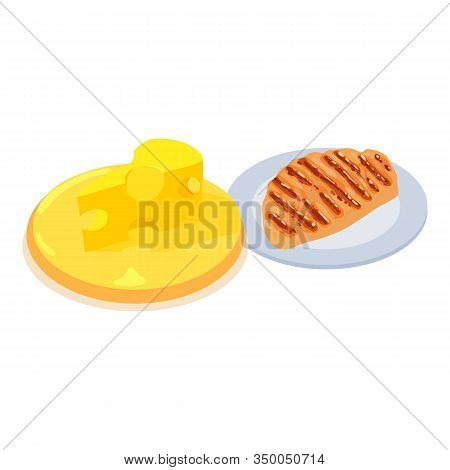 Protein Food Icon. Isometric Illustration Of Protein Food Vector Icon For Web