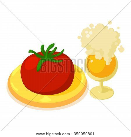 Oktoberfest Food Icon. Isometric Illustration Of Oktoberfest Food Vector Icon For Web