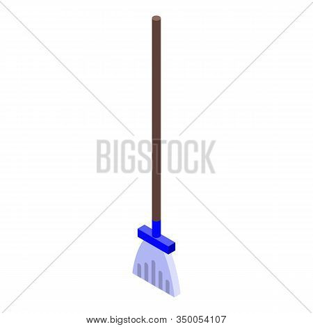 Broom Mop Icon. Isometric Of Broom Mop Vector Icon For Web Design Isolated On White Background