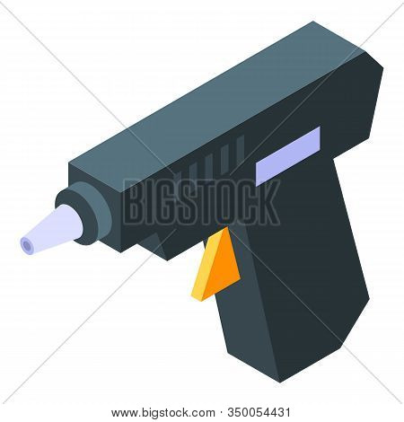 Glue Pistol Icon. Isometric Of Glue Pistol Vector Icon For Web Design Isolated On White Background