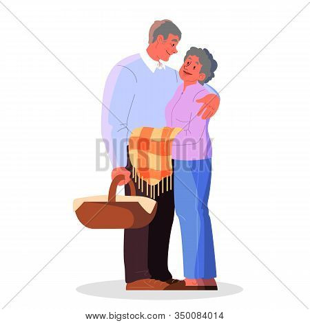Old Couple Spend Time Together. Woman And Man On Retirement.