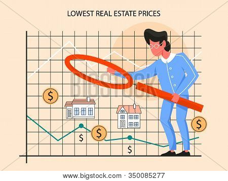 Real Estate Advantage Infographics. Lowest Prices For Real Estate.