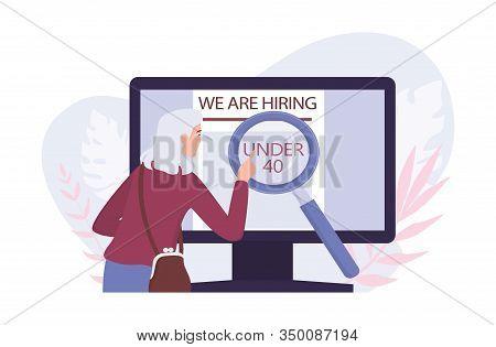 Recruitment Ageism Concept. Unfairness And Employment Problem