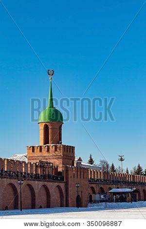 Architectural Monument Odoevsky Gate Tower-kazan Tower-tula Kremlin Xvi C. Russia. Russian Landmark.