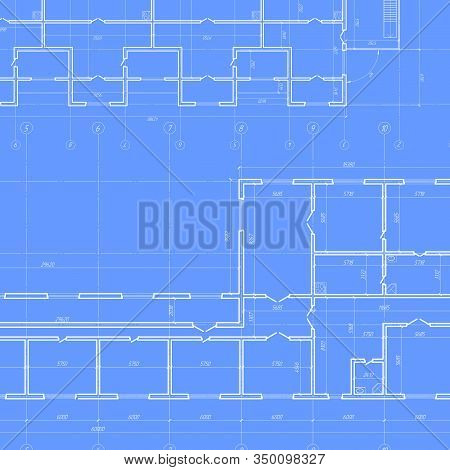 Technical Drawing Background .architectural Plan,technical Project .house Plan Project .engineering