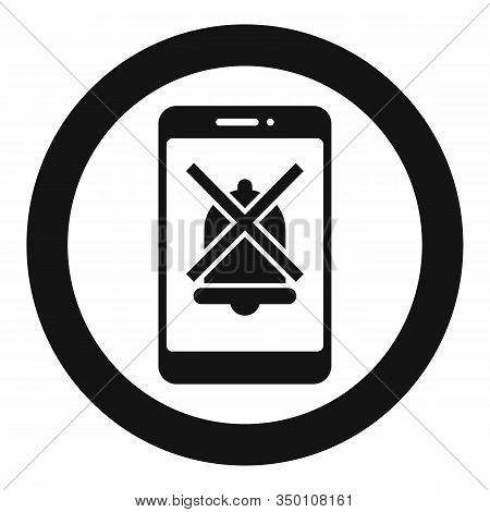 Smartphone Silence Icon. Simple Illustration Of Smartphone Silence Vector Icon For Web Design Isolat