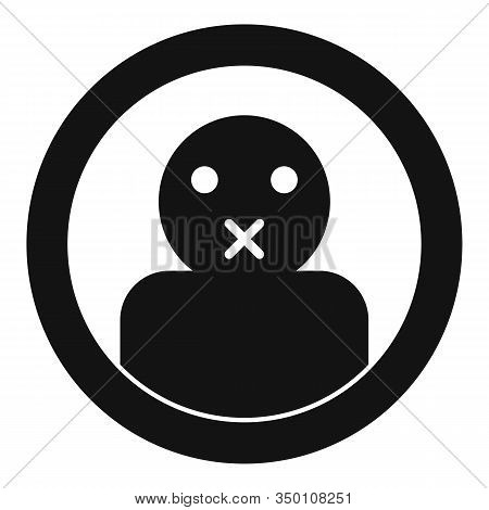 Keep Silence Icon. Simple Illustration Of Keep Silence Vector Icon For Web Design Isolated On White