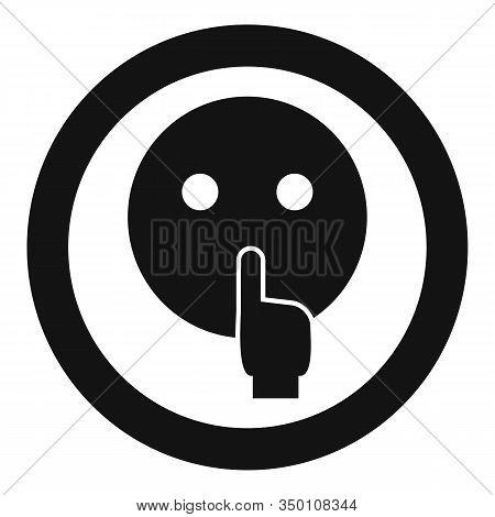 Head Symbol Quiet Icon. Simple Illustration Of Head Symbol Quiet Vector Icon For Web Design Isolated