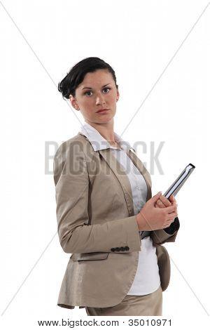 A sullen woman
