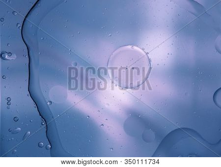 Abstract Background Of Water And Drops. Close-up.
