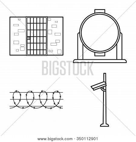 Isolated Object Of Jail And Law Sign. Jail And Crime Stock Symbol For Web.