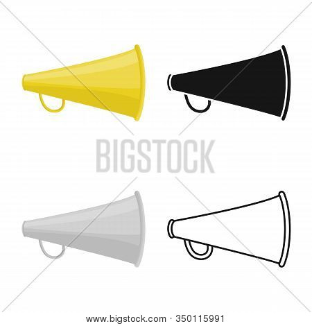 Isolated Object Of Loud And Megaphone Logo. Web Element Of Loud And Shout Vector Icon For Stock.