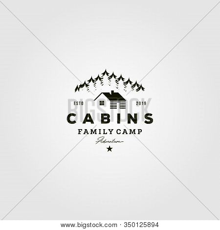 Vintage Cabins Logo Vector Illustration Icon Design