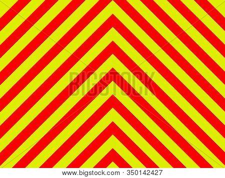 Ambulance Emergency Sign Background Yellow And Red Stripes Diagonally, Ambulance Emergency Diagonal