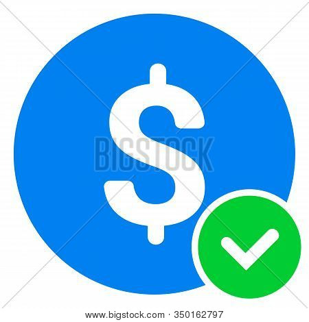 Approved Payment Icon. Vector Pictograph Style Is A Flat Symbol, Color, Chess Transparent Background