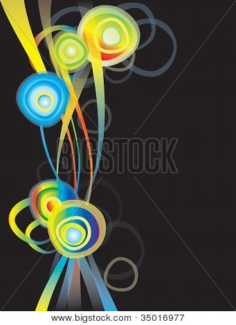 Design Element With Rainbow