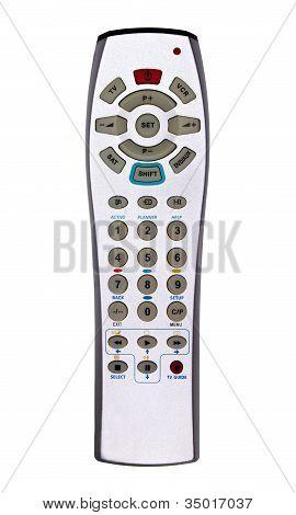 Silver TV/DVD/VCR remote controller