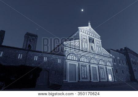 Church San Miniato Al Monte In Florence, Tuscany, Italy